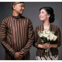 Couple Surjan+Kebaya Lurik Jogja Solo/Baju Adat Jawa Modern Couple