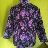 Baju Surjan Kembang Ungu Dewasa/Baju Surjan Seragam/Baju Adat Jawa