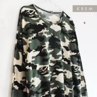 Baju Kaos STOarmy LD 124-144 fit XXL-5L atasan wanita kaos army SUPER