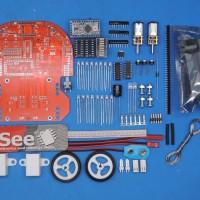 KIT DIY robot arduino line tracer follower 8 adc sensor full set