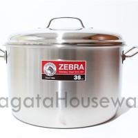 Panci 36 cm Stainless Steel Stock Pot Zebra 161036 Besar Original Baru