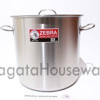 Panci Masak Besar Stainless Steel Stock Pot Zebra 171032 Sup Kuah Ori