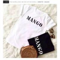 Kaos Mango Polos Tee Shirt Fashion Style Atasan Baju Oblong
