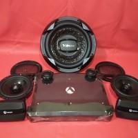 Paket Venom Turbo Power Subwoofer and Speaker split Audio Mobil