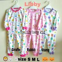 Libby Setelan Panjang Piyama Baju Tidur Anak Oblong MiX Girl 3-12 bln