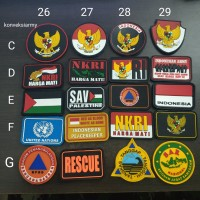 Patch emblem karet logo Garuda - NKRI - SAR - Palestine- united nation