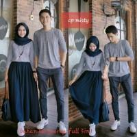 dress couple misty maxi - terusan pasangan simple - baju couple xxl