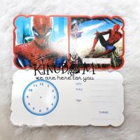 Kartu Undangan Spiderman / Undangan Ulang Tahun Spiderman