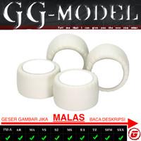 TAMIYA 15415 SMALL DIA WHITE ARCHED TIRES SUPER HARD / BAN SUPER HARD