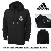 Sweater hoodie Real Madrid black check white grosir jaket club bola