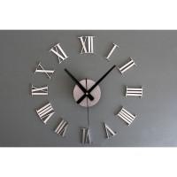 DIY Giant Wall Clock 30-60cm Diameter Jam Dinding Silver JMNHA