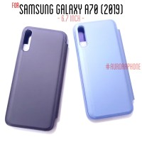 Samsung Galaxy A70 Flip Case Clear View Cover Mirror Standing Casing