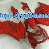 full cover body set ninja 250 R karbu merah original kawasaki Limited