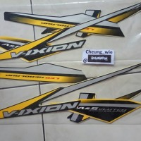 lis body/striping Yamaha All New Vixion 150 A&S Clutch Kuning 2018 kw1