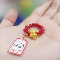 cincin EMAS HONGKONG HK 24 karat MANEKINEKO kucing keberuntungan