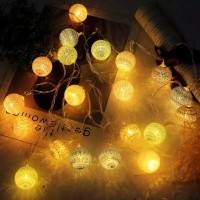 Cotton Ball Light,Lampion Benang 20 LED,Lampu Tumbler LED