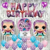 best brand lol01 - set balon dekorasi ulang tahun birthday tema lol