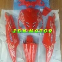 cover body mio sporty full set bagian halus merah cabe plus striping