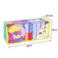 Mainan Anak: Balok Brick Susun Warna Warni Bahan Busa EVA Lembut