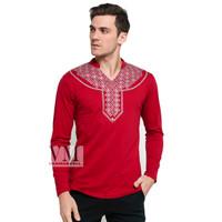 VM Baju Koko Merah Maroon Kaos Panjang
