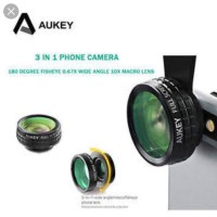 AKSESORIS HANDPHONE / Aukey 180 Degree Fisheye Lens 3 in 1 PL-A1