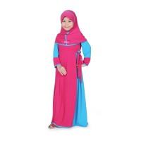 BAJUYULI - Baju Muslim Anak Perempuan Gamis Jersey Pink Turkish