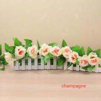 Artificial Silk Rose Bunga Mawar Rambat Bunga Imitasi Champagne Rose