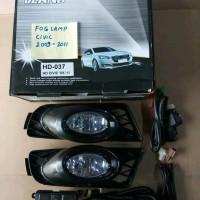 Fog Lamp Foglamp Honda Civic 2009 2010 2011 Lampu Kabut Limited