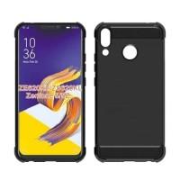 Asus Zenfone Max Pro M1 ZB602KL Soft Case Karbon Anti Crack Hitam