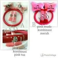 Paket Bantal mobil set  + Cover Stir Hello Kitty
