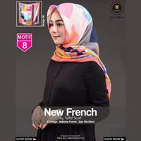 Jilbab Segi Empat FRENCH 8 By Yeffa Scarf- Hijab Kerudung MOTIF