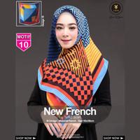 Jilbab Segi Empat FRENCH 10 By Yeffa Scarf- Hijab Kerudung MOTIF