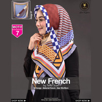 Jilbab Segi Empat FRENCH 7 By Yeffa Scarf- Hijab Kerudung MOTIF