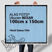 Alas / Background FOTO ukuran LARGE (1x1,5m) Motif KAYU JATI BELANDA