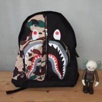 Tas Punggung BAPE / Tas Bape Shark Camo / KW Premium