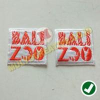 Bordir Jahitan Rapi Logo Bali Zoo - Bordir Bali Zoo Warna Putih