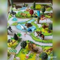 Gambar Map Diorama Maket Kebun Binatang Miniatur Hewan No Tomica Ania
