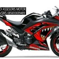 decal Kawasaki Ninja 250 Fi red Shark