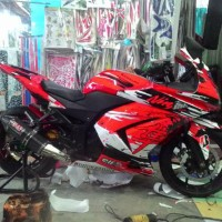 Decal/Stripping Kawasaki Ninja 250 Karbu Hayabusa merah