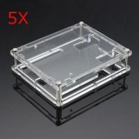 Ori 5Pcs Transparent Acrylic Shell Box For Arduino UNO R3
