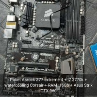 Paket Asrock Z77 Extreme 4 + i7 3770K + Asus strix Gtx 960