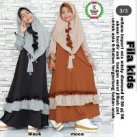 Gamis Fila Set Kids/syari anak/baju muslim modern/jubah anak