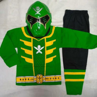 Setelan Kaos Topeng Anak Power Ranger / Baju Kostum Anak kado anak