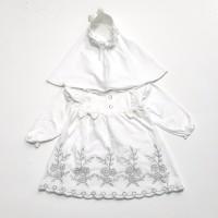 Baju Muslim Bayi Gamis Bayi Perempuan Baju Akikah Putih