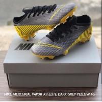 Sepatu Bola NIKE Mercurial Vapor XII Elite Dark Grey Yellow FG