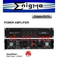 Power Amplifier Enigma Pa E6 2000watt