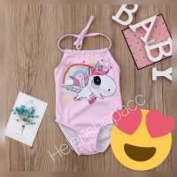 Baju renang bayi unicorn 3bln-5thn bikini swimsuit perempuan lucu