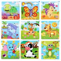 Puzzle Kayu / Jigsaw Puzzle 9 Pcs Murah