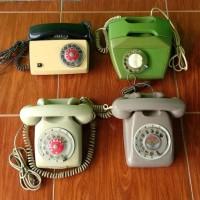Telepon Putar Jadul Antik Vintage Borongan 1set isi 4