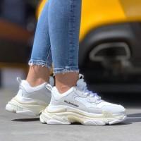 Sepatu Balenciaga Triple S White PK Gold Premium Original / Sneakers